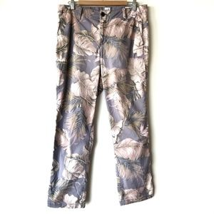 Gap Tropical Botanical Palm Girlfriend Chino Pants
